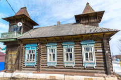 Tutaev, Russia - 28 marzo 2016 Architettura e vista generale della città immagine stock libera da diritti