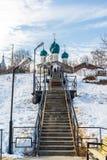 Tutaev, Russia - 28 marzo 2016 Cattedrale di resurrezione in Tutaev, Russia Ring Travel dorato Immagini Stock Libere da Diritti
