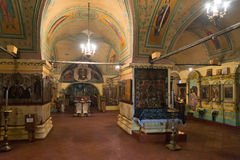 Tutaev, Russia - 28 marzo 2016 Cattedrale di Voskresensky in Tutaev, Russia Ring Travel dorato Fotografie Stock