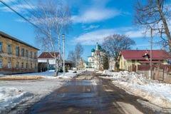 Tutaev, Russland - 28. März 2016 Architektur und allgemeine Ansicht der Stadt Stockfotos