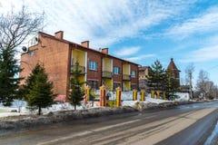 Tutaev, Russland - 28. März 2016 Architektur und allgemeine Ansicht der Stadt Lizenzfreie Stockbilder