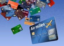 Tutaj jest wielki grupowanie kredytowe karty które pojawiać się są spławowe lub latanie royalty ilustracja