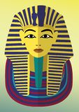 Tutankamon egyptian god egypt history stock illustration