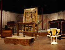 Tutankhamen- его усыпальница и сокровища стоковые фото