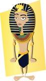 Tutankhamen engraçado ilustração royalty free