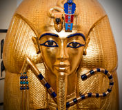 Tutankhamen Golden Mask. Close-up shot of the Pharaoh Tutankhamen's Golden Mask at the Cairo Museum in Egypt Royalty Free Stock Photos