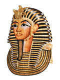 Tutankhamen mask. Isolated with clipping path Stock Photo