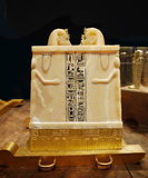Tutankhamen, Ancient Egypt. Tutankhamen: His Tomb and Treasures. The international exhibition in Prague stock image
