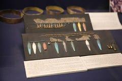 Tutankhamon国王珍宝-埃及博物馆的古老珠宝商 库存图片