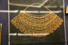 Tutankhamon国王珍宝-埃及博物馆的古老珠宝商 免版税库存照片