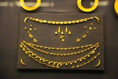 Tutankhamon国王珍宝-埃及博物馆的古老珠宝商 库存照片