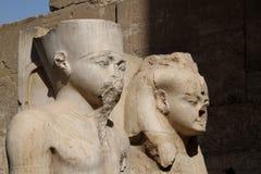 Tutankhamon no templo Egipto de Luxor Imagem de Stock Royalty Free