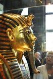Tutankhamun在埃及博物馆 免版税库存照片