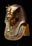 Tutankhamun的金黄面具 库存图片