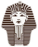 Tutankhamun. Egyptian Pharaoh outline. Golden Mask likeness Stock Image