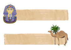 Tutankhamun and Camel Banners Stock Photography
