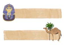 Tutankhamun and Camel Banners Stock Photography