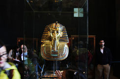 Tutankhamun in the egyptian museum  in cairo in egypt in africa  Royalty Free Stock Photography