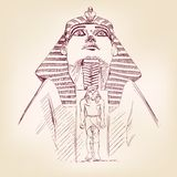 Tutankhamun Egyptian Pharaoh  vector llustration Royalty Free Stock Photos