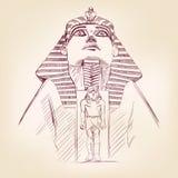 Tutankhamun Egyptian Pharaoh  vector llustration Royalty Free Stock Photos