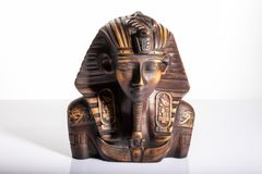 Tutankhamun,  portrait sculpture of an Egyptian pharaoh royalty free stock photo