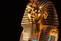tutankhamun ` s面具复制品  免版税库存照片