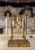 Tutankhamun's Gold Throne Royalty Free Stock Photography