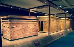Tutankhamun's sarcophagus stock photography