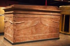 Tutankhamun's sarcophagus stock images