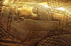 Tutankhamun's sarcophagus stock photo