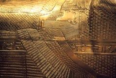 Tutankhamun's sarcophagus stock image
