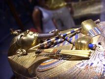 Tutankhamunmasker, Egyptische farao Stock Afbeeldingen