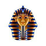 Tutankhamuns mask  on white vector Stock Images