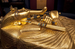 Tutankhamuns sarkofag Royaltyfri Fotografi