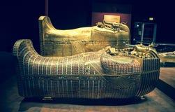 Tutankhamuns sarkofag Royaltyfria Foton