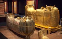 Tutankhamuns sarkofag Arkivbilder