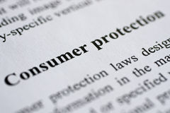Tutela del consumatore Fotografia Stock Libera da Diritti