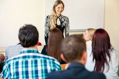 Tutor with class of students Royalty Free Stock Photo