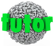 Tutor Number Ball Sphere Education Private Lesson Learning Stock Photo