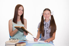 Tutor and the student solve problem Stock Image