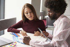 Tutor Using Learning Aids To Help Student With Dyslexia Royalty Free Stock Images