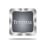 Tutorial button. Stock Image
