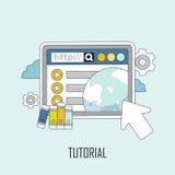 Tutorial concept Stock Photo