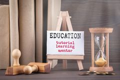 Tutorial, Learning and Mentor. Education concept royalty free stock photo