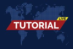 Tutorial live vector Royalty Free Stock Photography