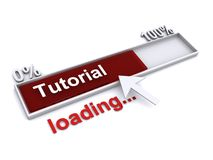 Tutorial loading. An illustration of a progress bar with the text tutorial loading royalty free illustration