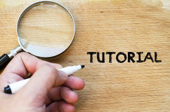 Tutorial text concept royalty free stock photo