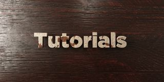 Tutorials - grungy wooden headline on Maple  - 3D rendered royalty free stock image. This image can be used for an online website banner ad or a print postcard Royalty Free Stock Photos