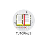 Tutorials Online Learning Distance Education Icon Stock Images