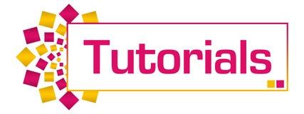 Tutorials Pink Gold Circular Bar. Tutorials text written over pink gold background Royalty Free Stock Photo